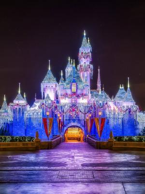 城堡,圣诞节手机壁纸