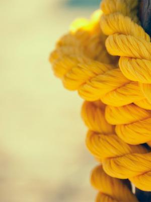 黄色绳索手机壁纸