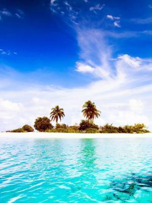 马尔代夫Dhiggiri岛手机壁纸
