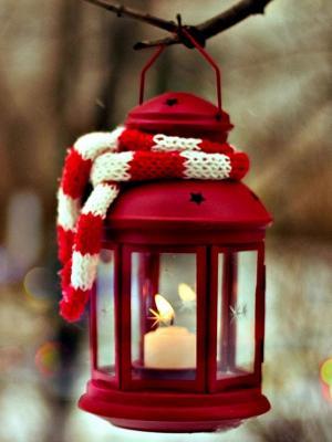 灯笼蜡烛冬季移动壁纸