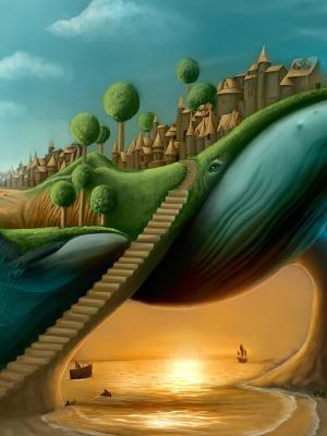超现实的楼梯移动壁纸