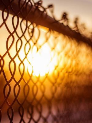 宏篱笆太阳散景移动壁纸