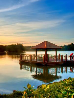 湖自然移动壁纸