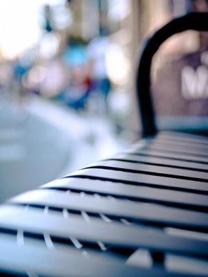 长凳散景移动壁纸