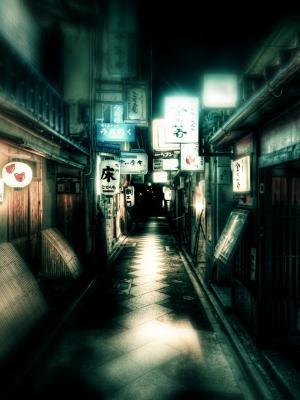日本街头灯笼移动壁纸
