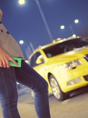 的士出租车汽车女子手机壁纸