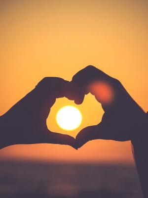 爱在夕阳的移动壁纸