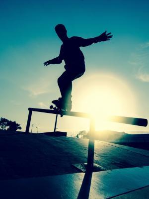 溜冰板移动壁纸