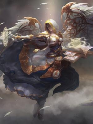 天使女人翅膀手机壁纸