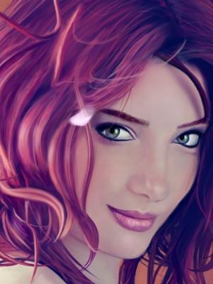 红发女郎手机壁纸
