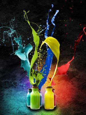 颜色移动墙纸飞溅
