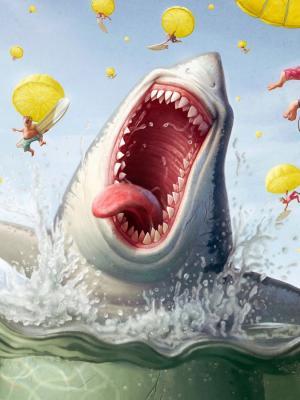 有趣的鲨鱼手机壁纸