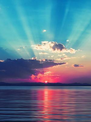 日落海洋移动壁纸