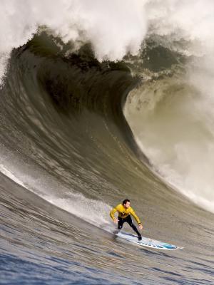 冲浪者乘坐波浪手机墙纸