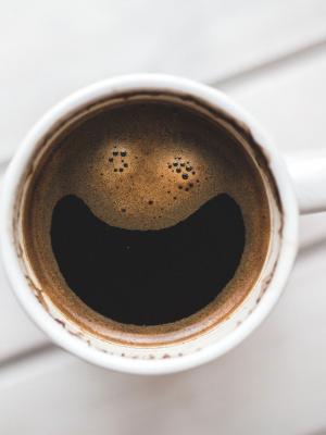 快乐咖啡手机壁纸