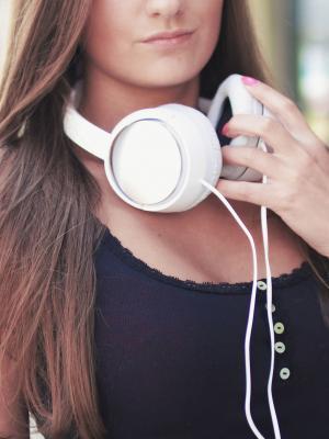 音乐声音耳机耳机手机壁纸