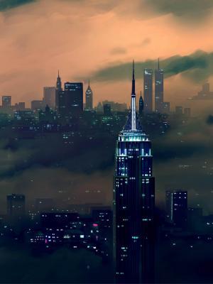 建筑物城市景观吸烟手机壁纸