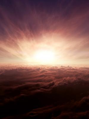 在云彩上面移动墙纸