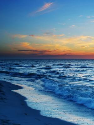 云太阳海滩手机壁纸