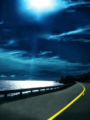 海洋云夜移动壁纸