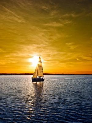 日落风帆移动壁纸