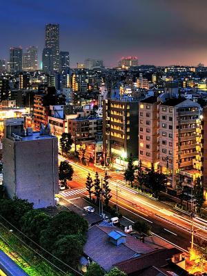 在横滨日本移动壁纸的街道