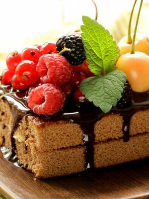 浆果蛋糕手机壁纸