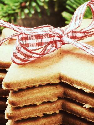 饼干星星圣诞节手机壁纸