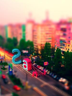 都市风景多色手机壁纸