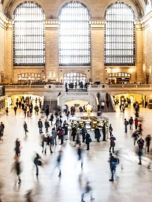 人纽约火车人群移动壁纸