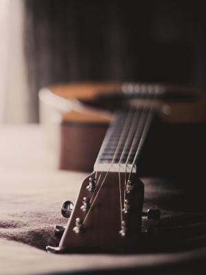 吉他音乐散景移动壁纸