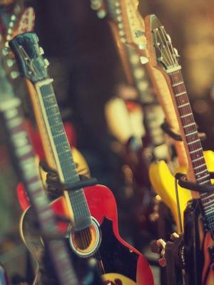 电吉他店手机壁纸