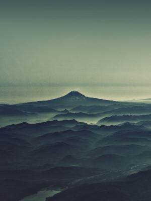 雾风景简约的移动壁纸
