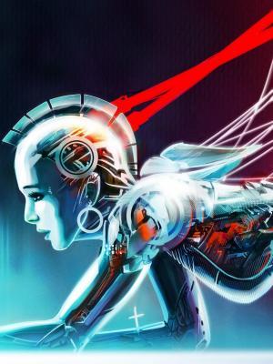 女孩机器人手机壁纸