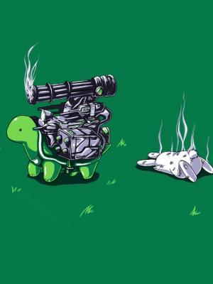 兔乌龟移动壁纸