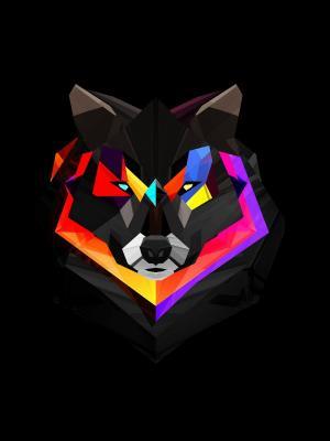 抽象的狼手机壁纸