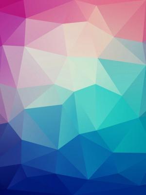 蓝色到粉红色的多边形移动壁纸