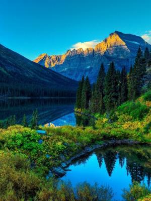 湖山风景手机壁纸