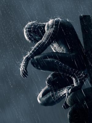 蜘蛛侠在雨中移动壁纸