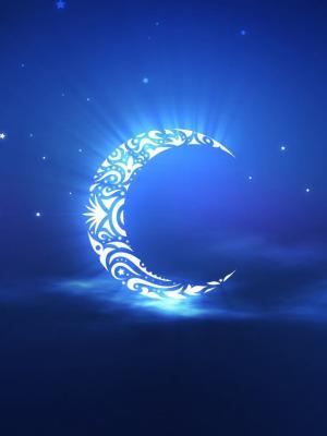 神圣的斋月月亮移动壁纸