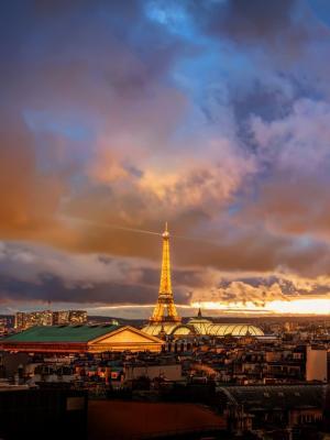 浪漫之夜在巴黎手机壁纸