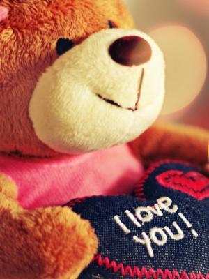 我爱你泰迪熊手机壁纸