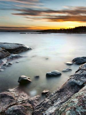 云海岸自然移动壁纸