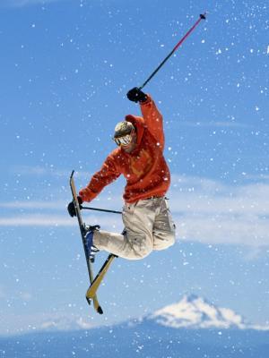 滑雪自由式移动壁纸