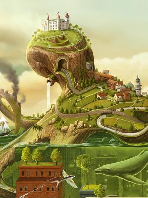 风景城堡移动壁纸