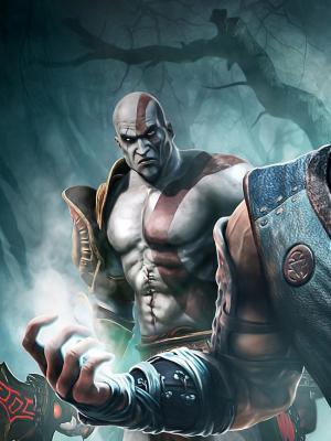 Sub零和Kratos手机壁纸