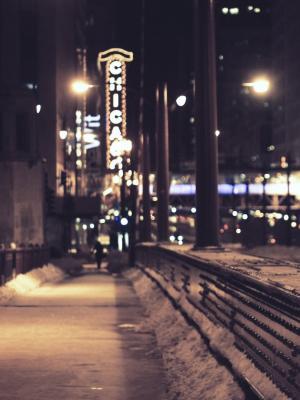 芝加哥雪街手机壁纸