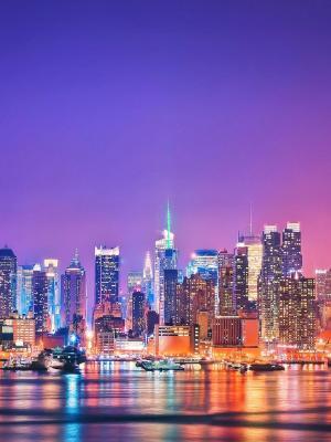 纽约移动壁纸的天际线