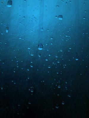 蓝色简约雨手机壁纸