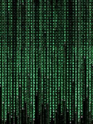 计算机文本矩阵移动壁纸